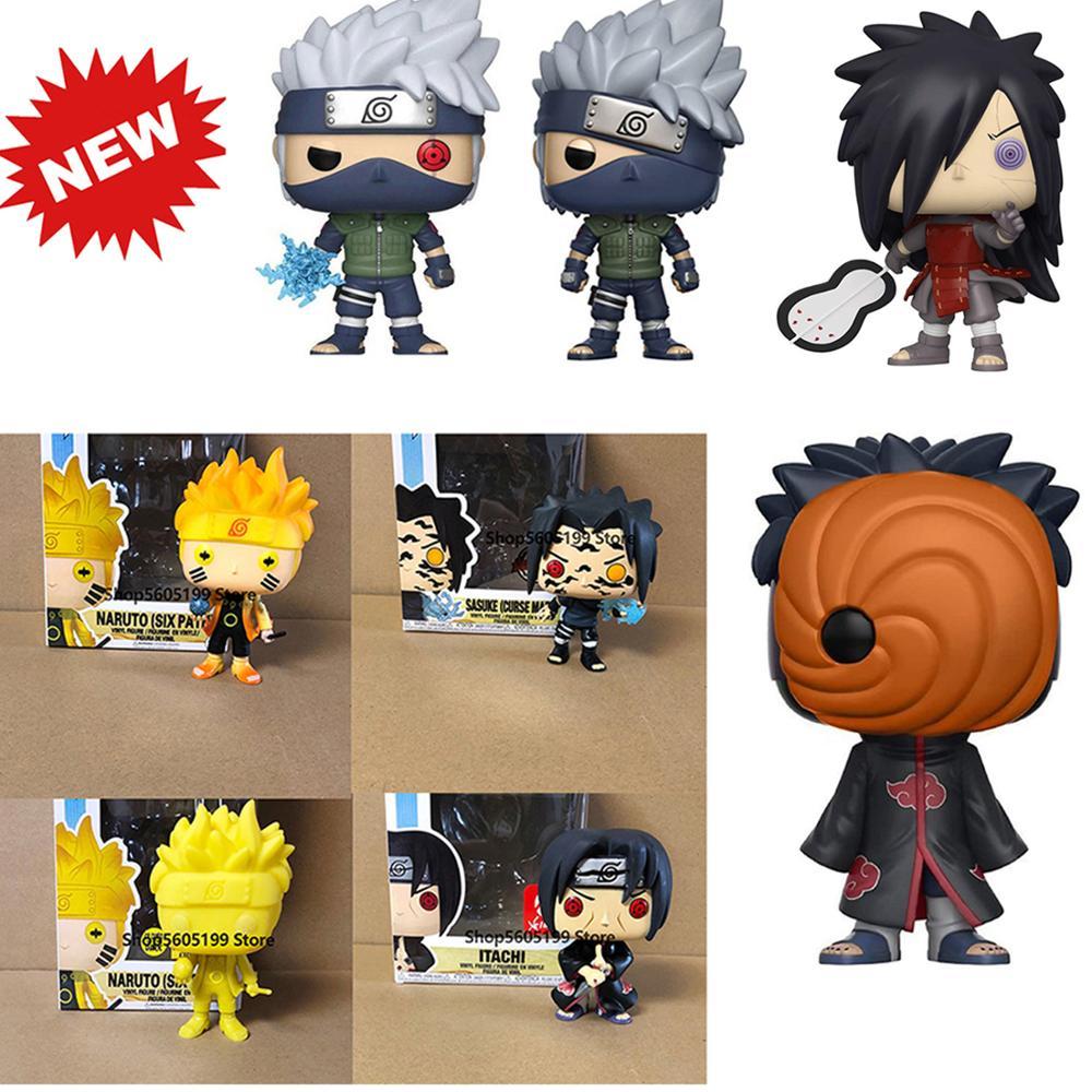 POP NARUTO Sasuke kurama ITACHI  KAKASHI Model Madara Tobi (Reanimation)Figure Collectible Model Toy for gift with box